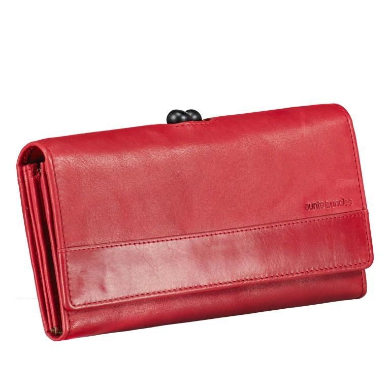 Geldbörse Grandma's Luxury Club Stella mit Bügelverschluss Crimson Red, Farbe: rot/weinrot, Marke: Aunts & Uncles, EAN: 4250394967014, Abmessungen in cm: 19.0x10.0x3.0, Bild 2 von 5