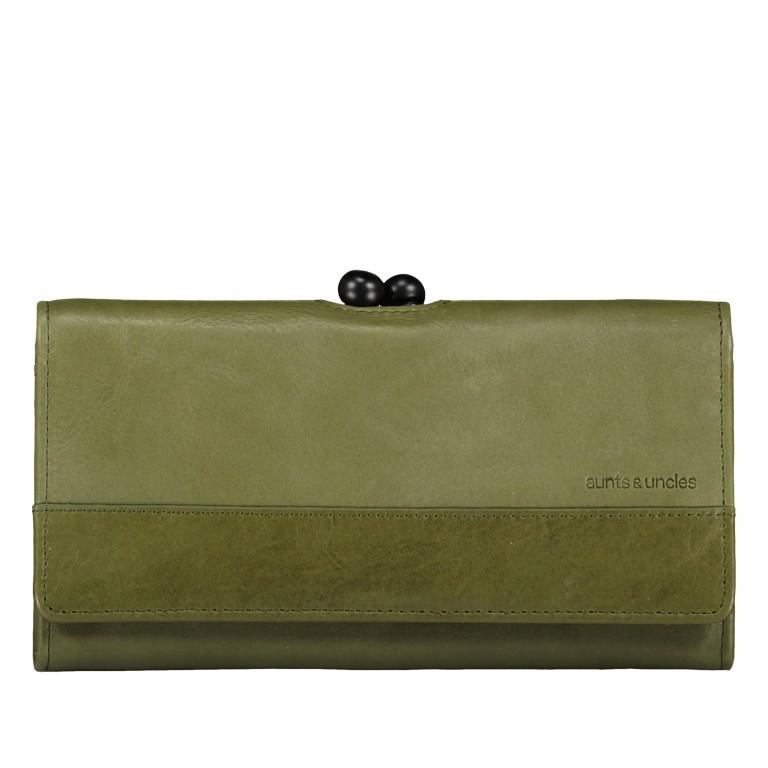 Geldbörse Grandma's Luxury Club Stella mit Bügelverschluss Cactus, Farbe: grün/oliv, Marke: Aunts & Uncles, EAN: 4250394967038, Abmessungen in cm: 19.0x10.0x3.0, Bild 1 von 5