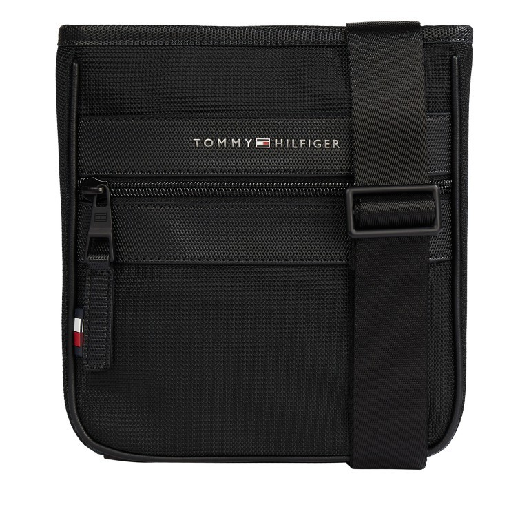 Umhängetasche Elevated Mini Crossover Black, Farbe: schwarz, Marke: Tommy Hilfiger, EAN: 8720114628694, Abmessungen in cm: 19.5x22.0x4.5, Bild 1 von 1