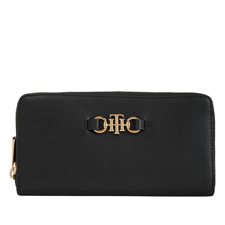 Geldbörse Club Large Zip Around Wallet Black, Farbe: schwarz, Marke: Tommy Hilfiger, EAN: 8720114659681, Abmessungen in cm: 19.0x10.0x2.0, Bild 1 von 2