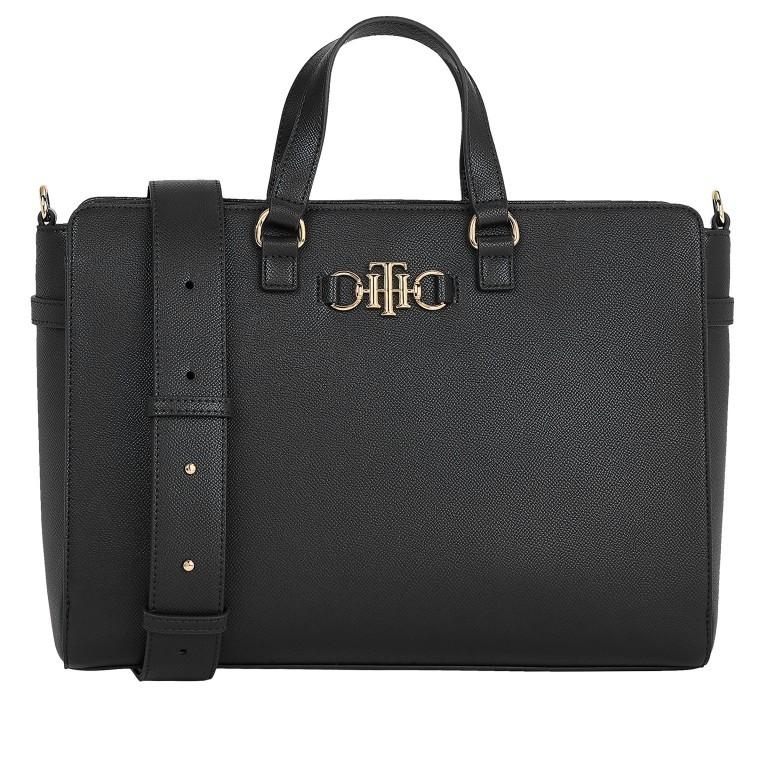 Handtasche Club Tote Black, Farbe: schwarz, Marke: Tommy Hilfiger, EAN: 8720114667136, Abmessungen in cm: 35.0x25.0x12.5, Bild 1 von 3