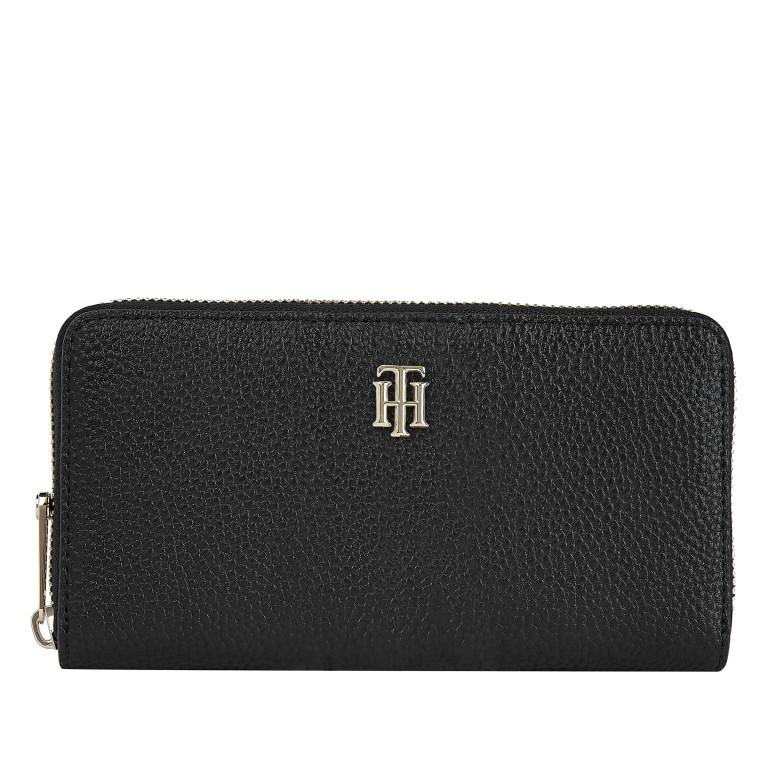 Geldbörse Essence Large Zip Around Wallet Black, Farbe: schwarz, Marke: Tommy Hilfiger, EAN: 8720114663794, Abmessungen in cm: 19.0x10.0x2.0, Bild 1 von 2