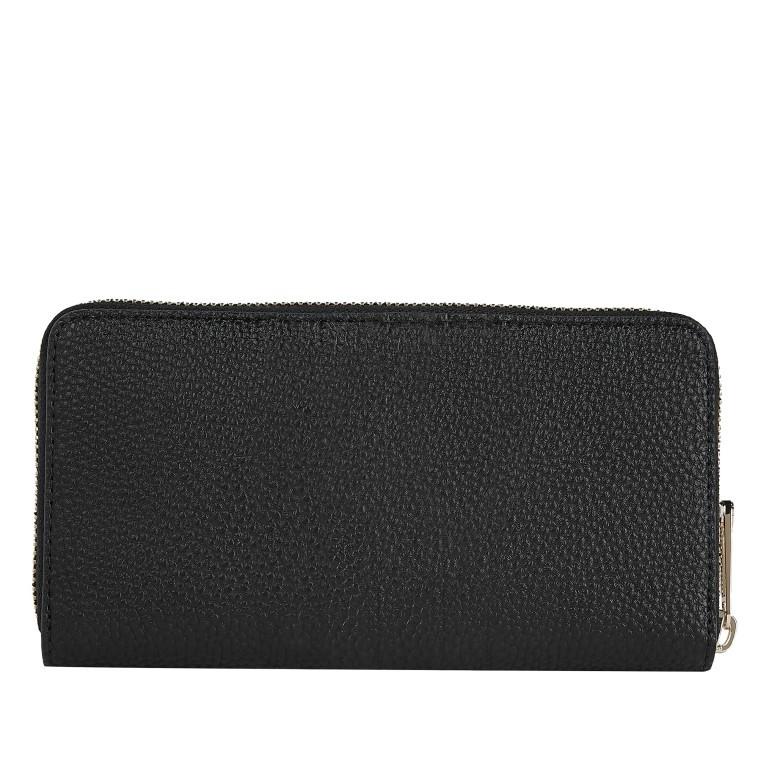 Geldbörse Essence Large Zip Around Wallet Black, Farbe: schwarz, Marke: Tommy Hilfiger, EAN: 8720114663794, Abmessungen in cm: 19.0x10.0x2.0, Bild 2 von 2