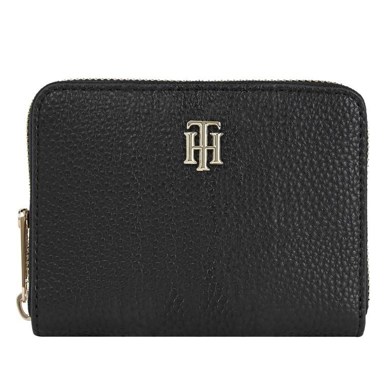 Geldbörse Essence Medium Zip Wallet Black, Farbe: schwarz, Marke: Tommy Hilfiger, EAN: 8720114660731, Abmessungen in cm: 13.0x10.0x2.5, Bild 1 von 2