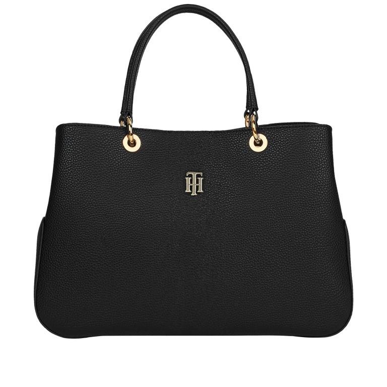 Handtasche Essence Satchel Black, Farbe: schwarz, Marke: Tommy Hilfiger, EAN: 8720114668447, Abmessungen in cm: 36.5x24.5x12.0, Bild 1 von 2