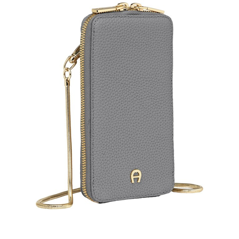 Handytasche Mobile Bag 163-139 Slate Grey, Farbe: grau, Marke: AIGNER, EAN: 4055539391767, Abmessungen in cm: 9.5x17.0x2.0, Bild 2 von 6