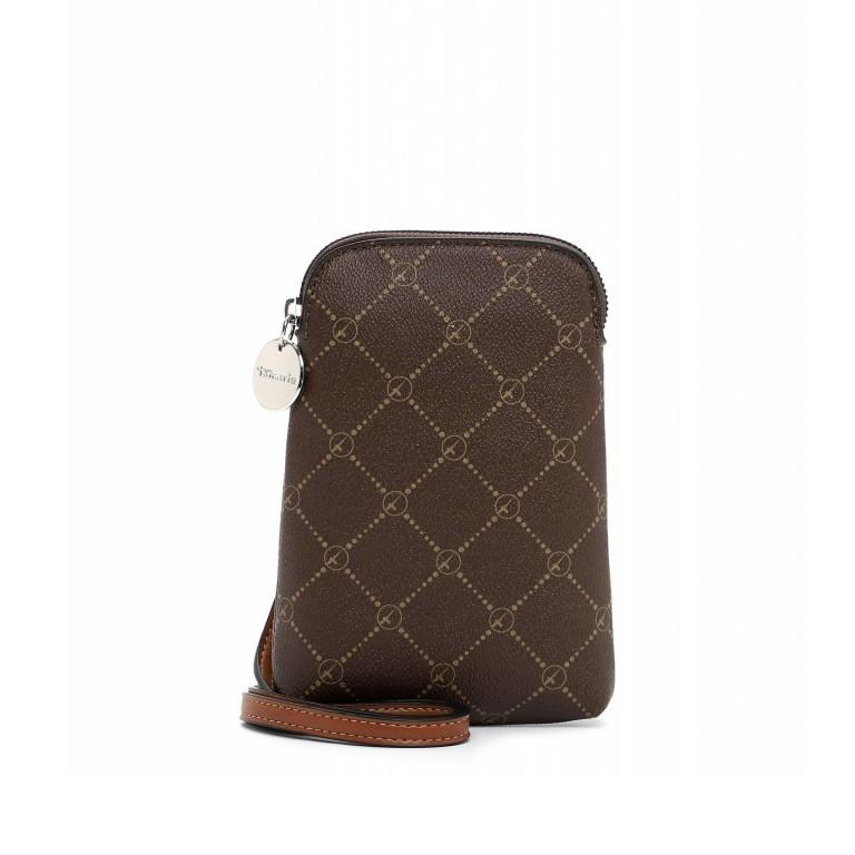 Handytasche Anastasia Brown Cognac, Farbe: braun, Marke: Tamaris, EAN: 4063512034990, Abmessungen in cm: 13.5x20.0x3.5, Bild 1 von 5