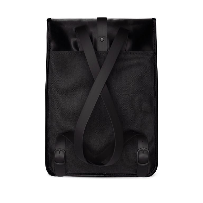 Rucksack Rucksack mit Laptopfach 15 Zoll Velvet Black, Farbe: schwarz, Marke: Rains, EAN: 5711747479060, Abmessungen in cm: 29.5x42.0x11.0, Bild 2 von 5