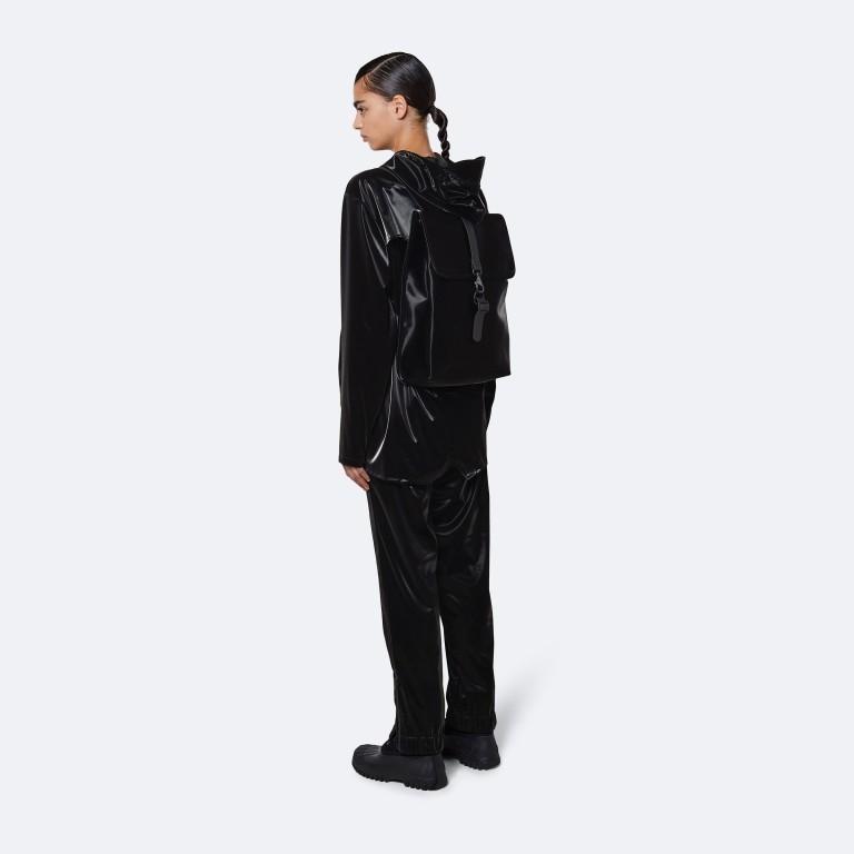 Rucksack Rucksack mit Laptopfach 15 Zoll Velvet Black, Farbe: schwarz, Marke: Rains, EAN: 5711747479060, Abmessungen in cm: 29.5x42.0x11.0, Bild 3 von 5