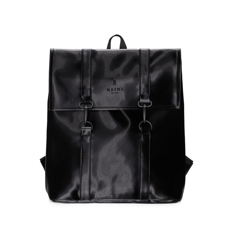 Rucksack MSN Mini Velvet Black, Farbe: schwarz, Marke: Rains, EAN: 5711747479121, Abmessungen in cm: 30.5x34.5x12.0, Bild 1 von 5
