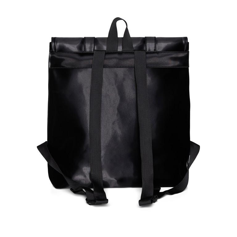 Rucksack MSN Mini Velvet Black, Farbe: schwarz, Marke: Rains, EAN: 5711747479121, Abmessungen in cm: 30.5x34.5x12.0, Bild 2 von 5