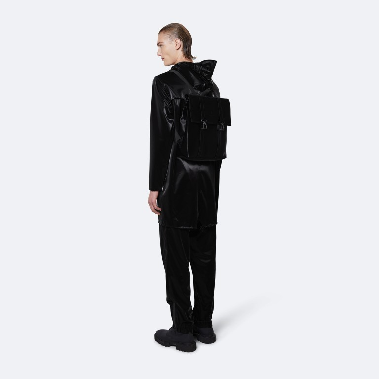 Rucksack MSN Mini Velvet Black, Farbe: schwarz, Marke: Rains, EAN: 5711747479121, Abmessungen in cm: 30.5x34.5x12.0, Bild 4 von 5