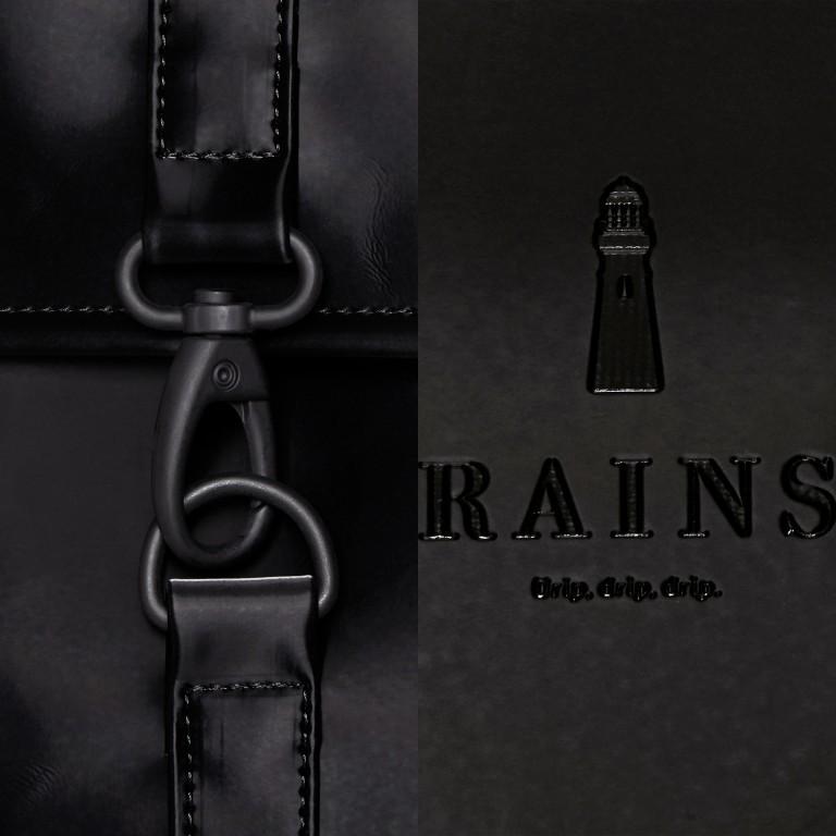 Rucksack MSN Mini Velvet Black, Farbe: schwarz, Marke: Rains, EAN: 5711747479121, Abmessungen in cm: 30.5x34.5x12.0, Bild 5 von 5