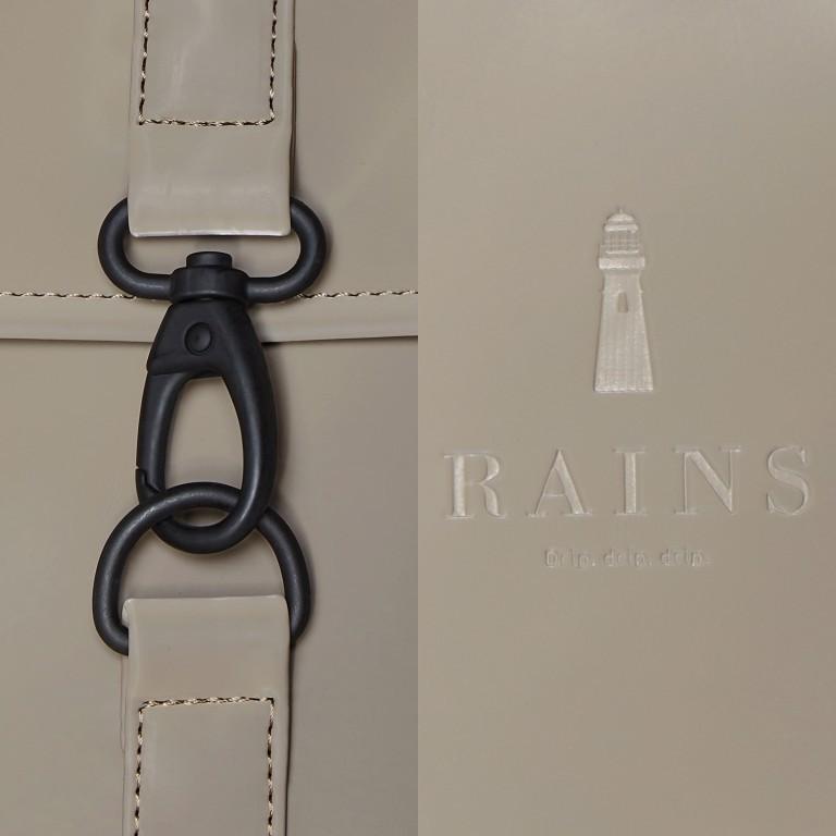 Rucksack MSN Mini Velvet Taupe, Farbe: taupe/khaki, Marke: Rains, EAN: 5711747479114, Abmessungen in cm: 30.5x34.5x12.0, Bild 5 von 5