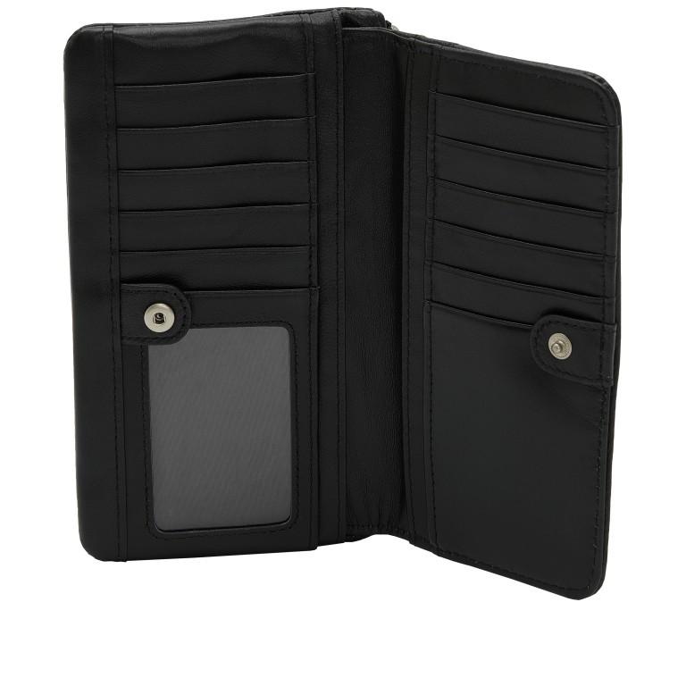 Geldbörse Basic Layla mit RFID-Schutz Black, Farbe: schwarz, Marke: Liebeskind Berlin, EAN: 4064657269834, Abmessungen in cm: 18.5x10.5x2.5, Bild 3 von 4
