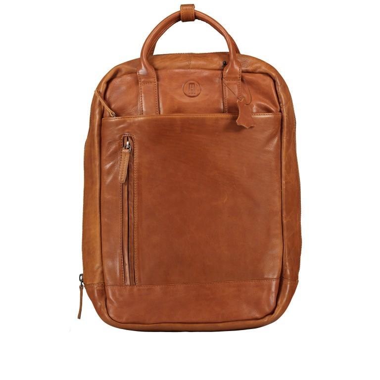 Rucksack mit Laptopfach 13 Zoll Cognac, Farbe: cognac, Marke: Hausfelder, EAN: 4065646004986, Abmessungen in cm: 27.5x37.0x10.0, Bild 1 von 8