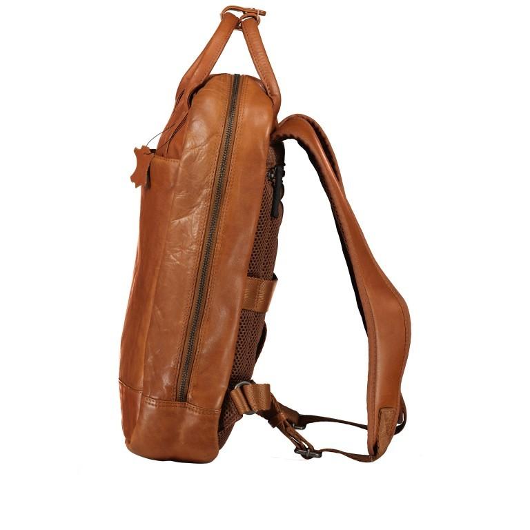Rucksack mit Laptopfach 13 Zoll Cognac, Farbe: cognac, Marke: Hausfelder, EAN: 4065646004986, Abmessungen in cm: 27.5x37.0x10.0, Bild 3 von 8