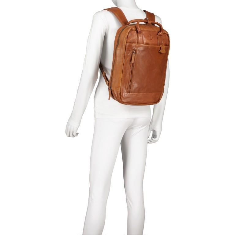 Rucksack mit Laptopfach 13 Zoll Cognac, Farbe: cognac, Marke: Hausfelder, EAN: 4065646004986, Abmessungen in cm: 27.5x37.0x10.0, Bild 5 von 8