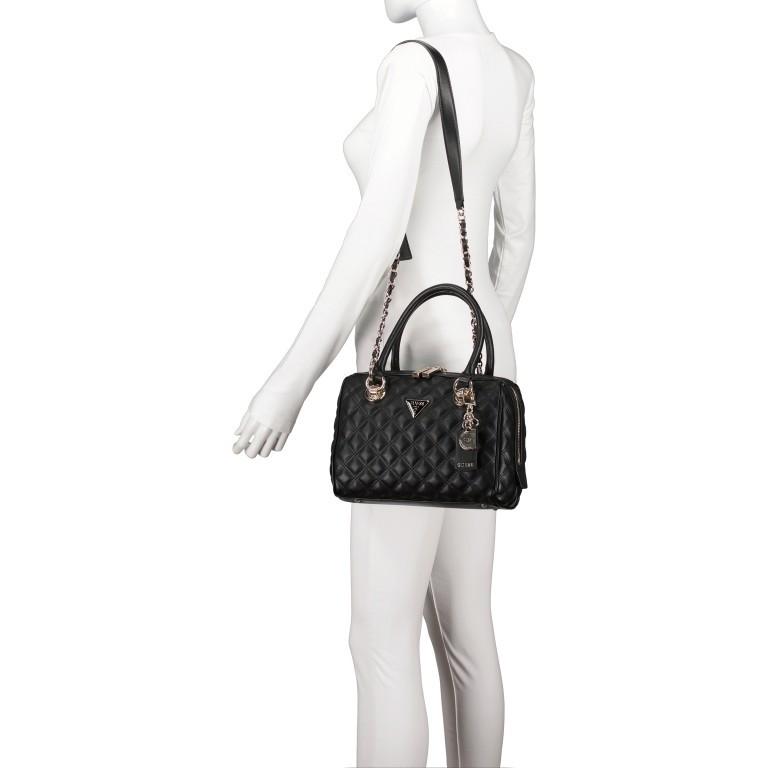 Handtasche Cessily Black, Farbe: schwarz, Marke: Guess, EAN: 0190231498360, Abmessungen in cm: 26.0x19.0x11.0, Bild 5 von 7