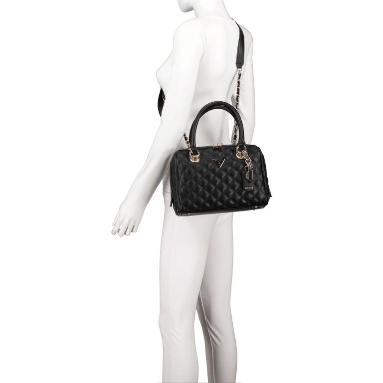 Handtasche Cessily Black, Farbe: schwarz, Marke: Guess, EAN: 0190231498360, Abmessungen in cm: 26.0x19.0x11.0, Bild 6 von 7