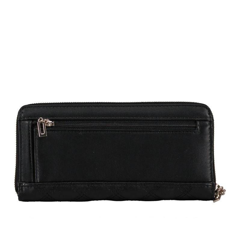 Geldbörse Cessily Black, Farbe: schwarz, Marke: Guess, EAN: 0190231498575, Abmessungen in cm: 20.5x10.5x2.5, Bild 3 von 4