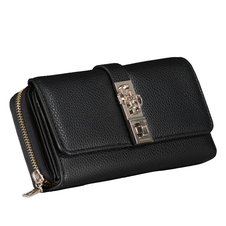 Geldbörse Albury Black, Farbe: schwarz, Marke: Guess, EAN: 0190231486602, Abmessungen in cm: 19.5x9.5x4.0, Bild 2 von 4