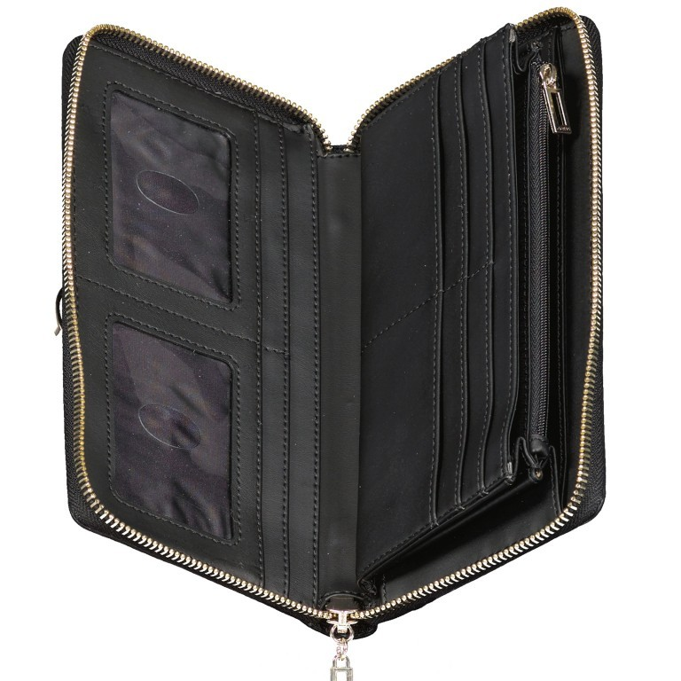 Geldbörse Alisa Coal, Farbe: schwarz, Marke: Guess, EAN: 0190231486442, Abmessungen in cm: 21.0x11.5x2.0, Bild 3 von 3