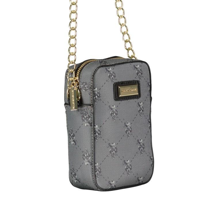 Umhängetasche Hampton Mini Bag Black, Farbe: schwarz, Marke: U.S. Polo Assn., EAN: 8052792909179, Abmessungen in cm: 11.0x17.0x5.0, Bild 2 von 6