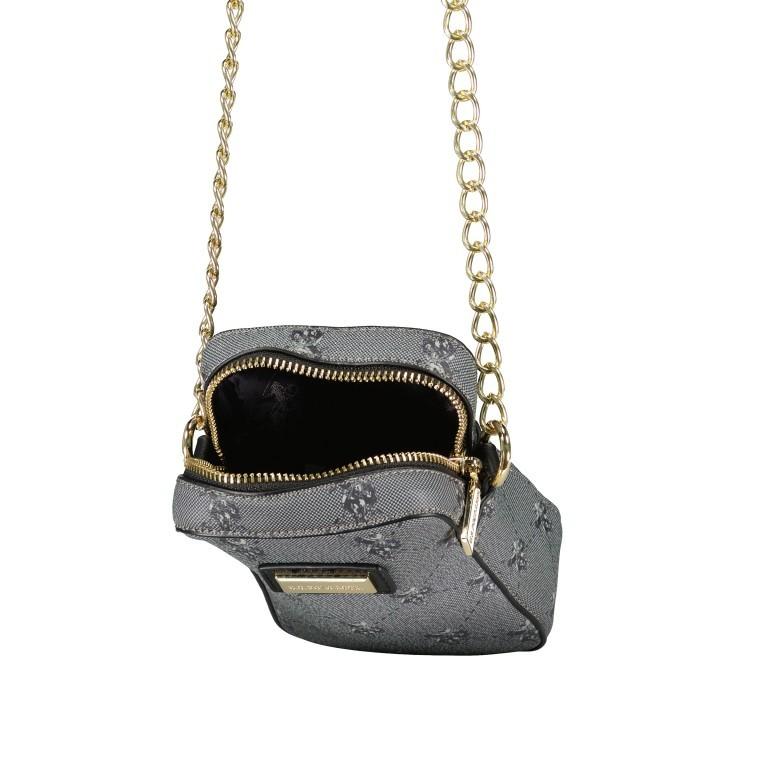 Umhängetasche Hampton Mini Bag Black, Farbe: schwarz, Marke: U.S. Polo Assn., EAN: 8052792909179, Abmessungen in cm: 11.0x17.0x5.0, Bild 6 von 6