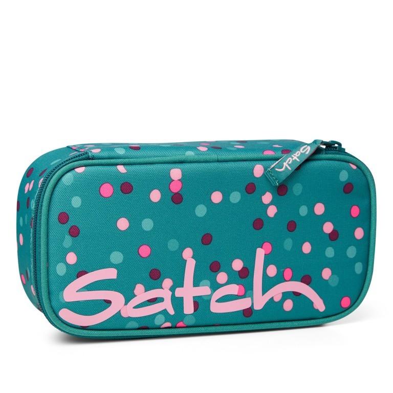 Schlamperbox Happy Confetti, Farbe: grün/oliv, Marke: Satch, EAN: 4057081102631, Abmessungen in cm: 22.0x6.0x10.0, Bild 1 von 3
