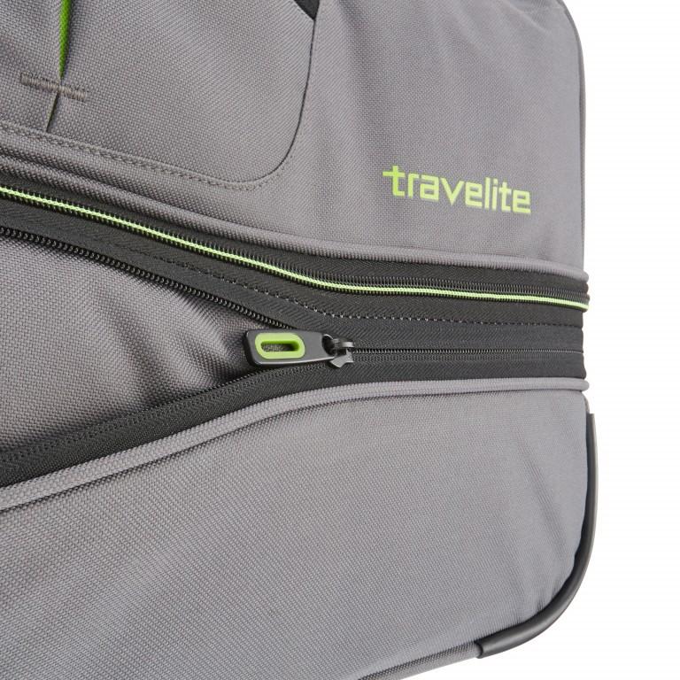 Reisetasche Basics Grau Grün, Farbe: grau, Marke: Travelite, EAN: 4027002056749, Abmessungen in cm: 55.0x32.0x29.0, Bild 5 von 5