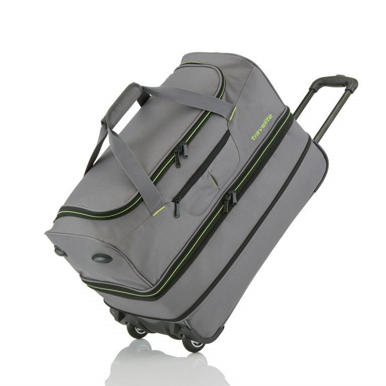 Reisetasche Basics Grau Grün, Farbe: grau, Marke: Travelite, EAN: 4027002056749, Abmessungen in cm: 55.0x32.0x29.0, Bild 4 von 5
