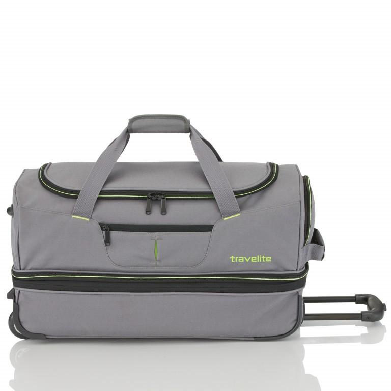 Reisetasche Basics Grau Grün, Farbe: grau, Marke: Travelite, EAN: 4027002056749, Abmessungen in cm: 55.0x32.0x29.0, Bild 2 von 5