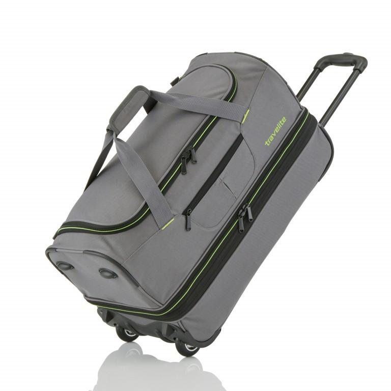 Reisetasche Basics, Farbe: schwarz, grau, blau/petrol, Marke: Travelite, Abmessungen in cm: 55.0x32.0x29.0, Bild 1 von 1
