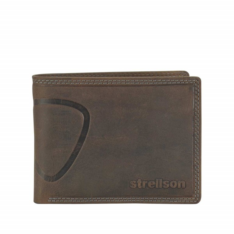 Geldbörse Baker Street Billfold H7 Brown, Farbe: braun, Marke: Strellson, EAN: 4006053044424, Abmessungen in cm: 12.5x9.5x2.0, Bild 1 von 2