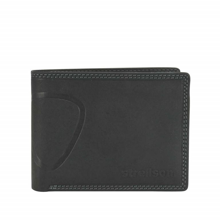 Geldbörse Baker Street Billfold H7, Farbe: schwarz, braun, Marke: Strellson, Bild 1 von 1