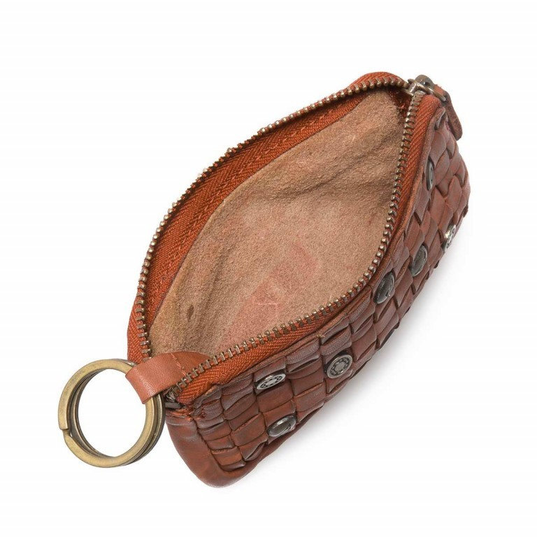 Schlüsseletui Soft-Weaving Lulu B3.0525 Charming Cognac, Farbe: cognac, Marke: Harbour 2nd, EAN: 4046478025189, Abmessungen in cm: 13.0x7.5x1.5, Bild 2 von 3