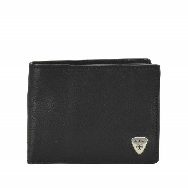 Geldbörse Harrison Billfold H8 Black, Farbe: schwarz, Marke: Strellson, EAN: 4053533015566, Abmessungen in cm: 12.0x9.5x2.5, Bild 1 von 2