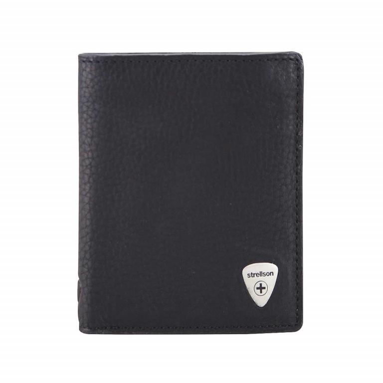 Geldbörse Harrison Billfold V8 Black, Farbe: schwarz, Marke: Strellson, EAN: 4053533015542, Abmessungen in cm: 9.5x12.0x2.0, Bild 1 von 2