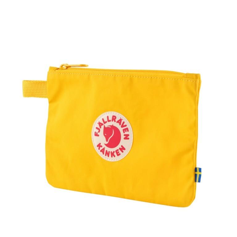 Kosmetiktasche Kånken Gear Pocket, Farbe: schwarz, blau/petrol, grün/oliv, rot/weinrot, gelb, Marke: Fjällräven, Abmessungen in cm: 21.0x14.0x0.5, Bild 2 von 3