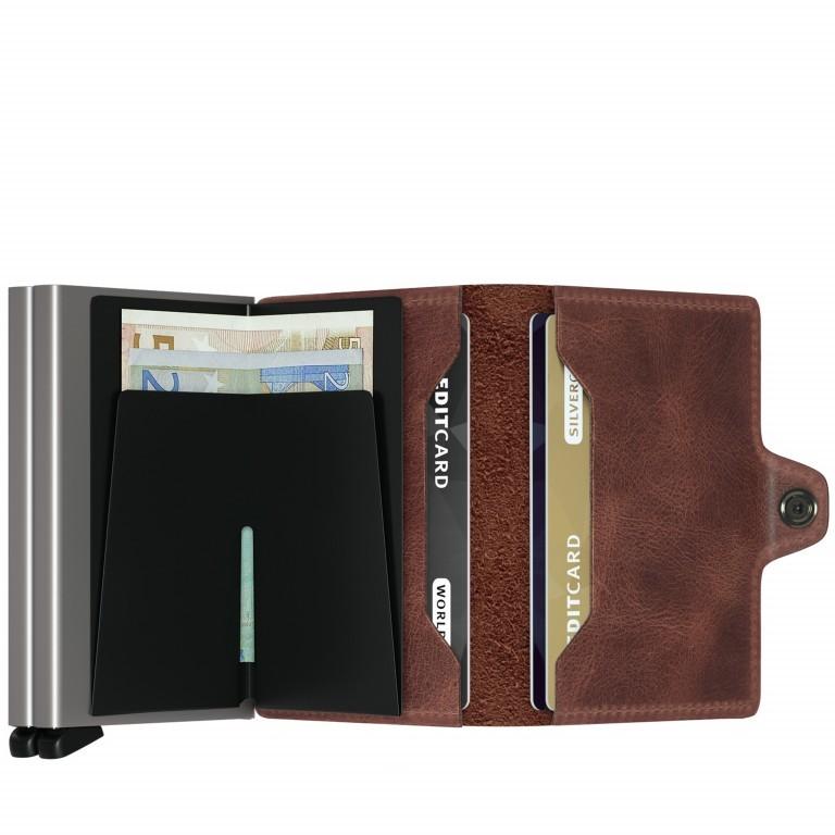 Geldbörse Twinwallet Vintage Brown, Farbe: braun, Marke: Secrid, EAN: 8718215282822, Abmessungen in cm: 7.0x10.2x2.5, Bild 2 von 3