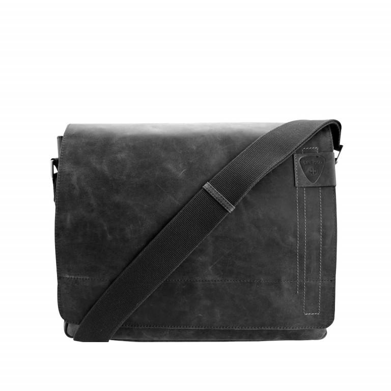 Kuriertasche Richmond Messenger L, Farbe: schwarz, grau, braun, Marke: Strellson, Bild 1 von 1