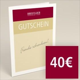 Gutschein zum selber ausdrucken 40 €