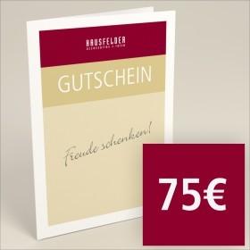 Gutschein zum selber ausdrucken 75 €