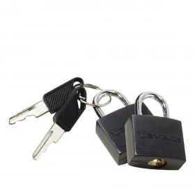 Schlüsselschloss 2er Set Schwarz