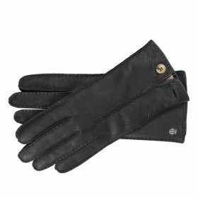 Handschuhe Damen Hirschleder Handnaht Größe 7 Black