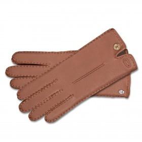 Handschuhe Damen Hirschleder Handnaht Größe 8 Saddle Brown
