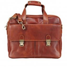 Aktentasche mit zwei Vortaschen Braun