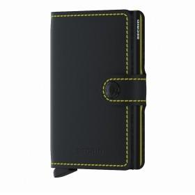 Geldbörse Miniwallet Matte Black Yellow
