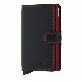 Geldbörse Miniwallet Matte Black Red